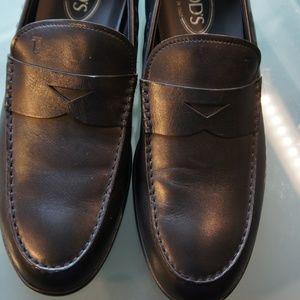 Tod's Men's Black Leather Loafer